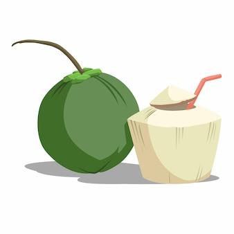 Kokosnuss ist eine köstliche frucht