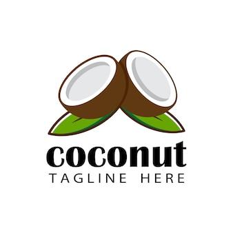 Kokosnuss-logo-schablonendesign
