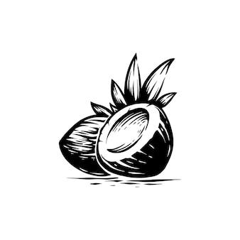 Kokosnuss retro