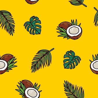 Kokosnuss-tropisches muster