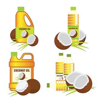 Kokosnussöl in der flasche