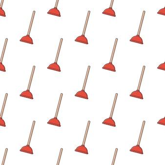 Kolbennahtloses muster auf einem weißen hintergrund. wc-thema-illustration