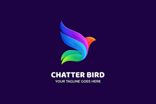 Kolibri-farbverlauf-luxus-logo-vorlage