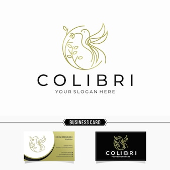 Kolibri-strichgrafik-logo
