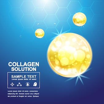 Kollagen serum und vitamin hintergrund konzept hautpflege kosmetik poster.