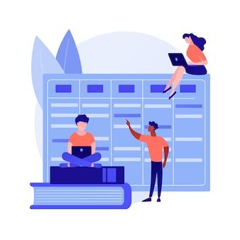 Kollegen arbeiten zusammen. workflow-organisation, effektive aufgabenplanung, terminkalender
