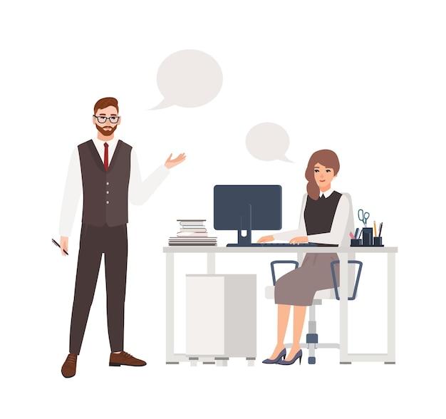 Kollegen reden miteinander
