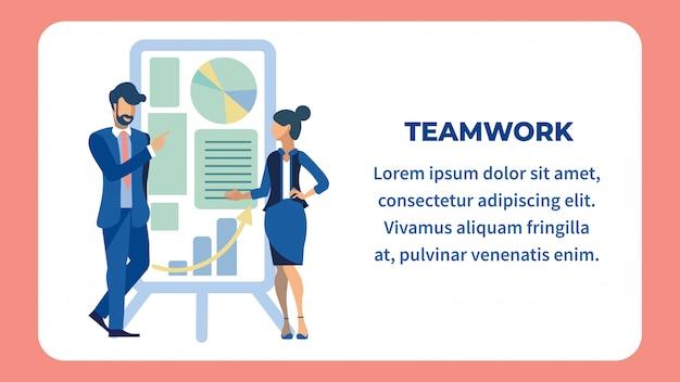 Kollegen-zusammenarbeits-flache illustration
