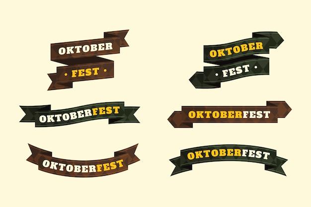 Kollektion flacher oktoberfestbänder