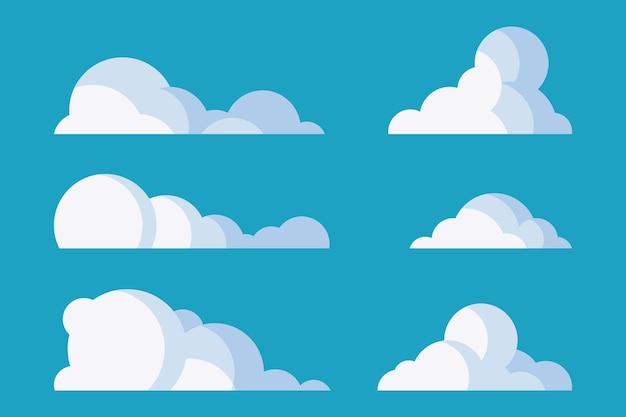 Kollektion flacher wolken