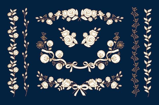 Kollektion floraler ornamente
