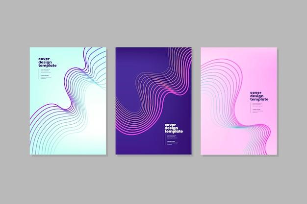 Kollektion mit dynamischem farbverlauf