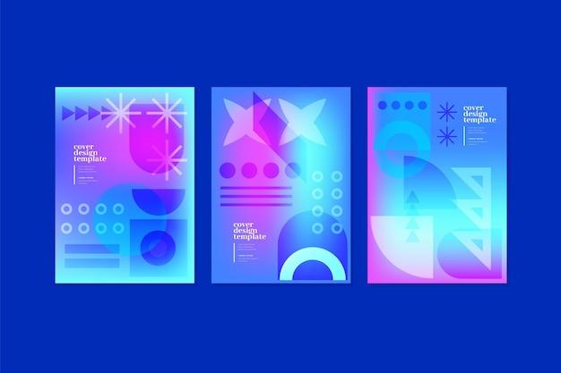 Kollektion mit geometrischen abdeckungen mit dynamischem verlauf