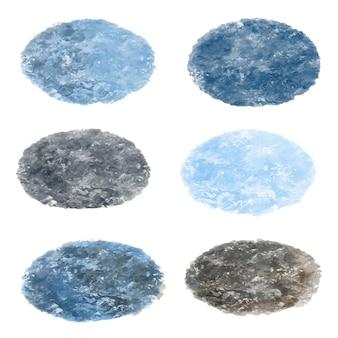 Kollektionen mit blauer steinstruktur