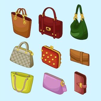 Kollektionen womans handtaschen icons