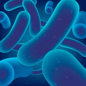 Kolonie von bakterien, viruszellen oder mikroben