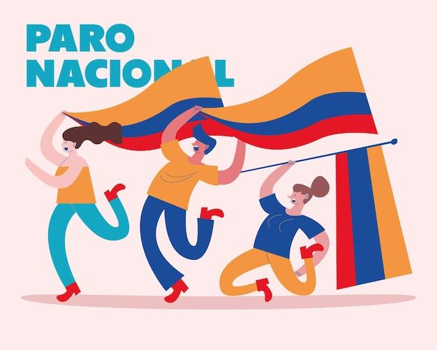 Kolumbianisches nationales streiklabel