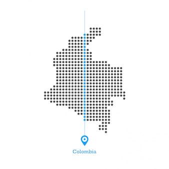 Kolumbien doled kartenentwurfsvektor