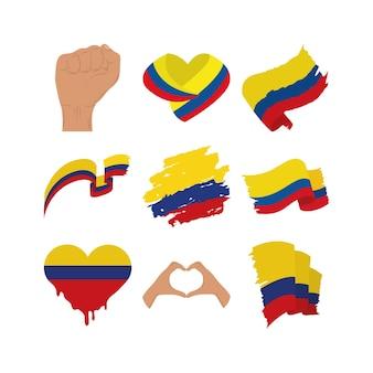 Kolumbien flaggen sammlung