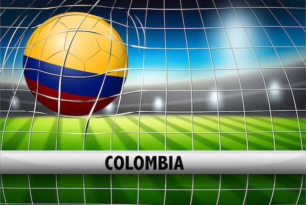 Kolumbien fußball ball flagge