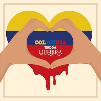 Kolumbien hände herz