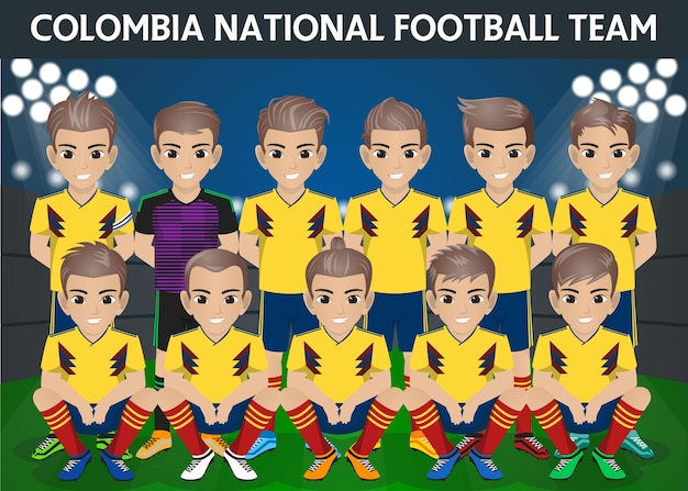 Kolumbien national football team für internationales turnier