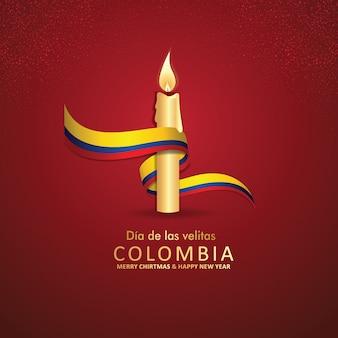 Kolumbien tag der kleinen kerzen feier hintergrund