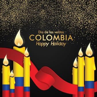 Kolumbien tag der kleinen kerzenfeier