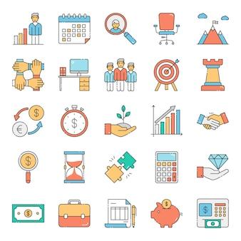 Kombination aus business- und finanzsammlung
