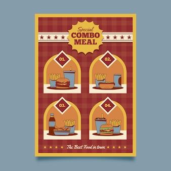 Kombinierte mahlzeiten - plakatvorlage