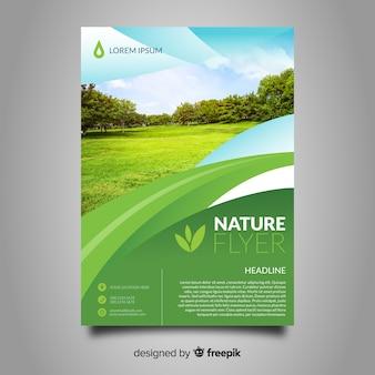 Kombinierte natur-flyer-vorlage