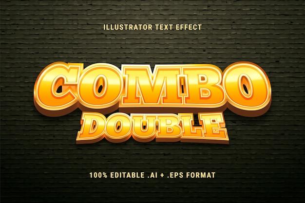 Kombinierter doppelter texteffekt