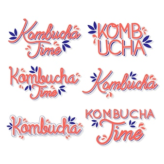 Kombucha tee - schriftzug sammlung