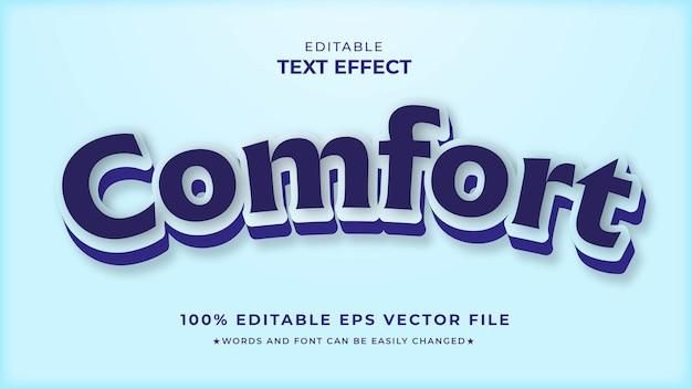 Komfort editierbare texteffekt-eps-vorlage