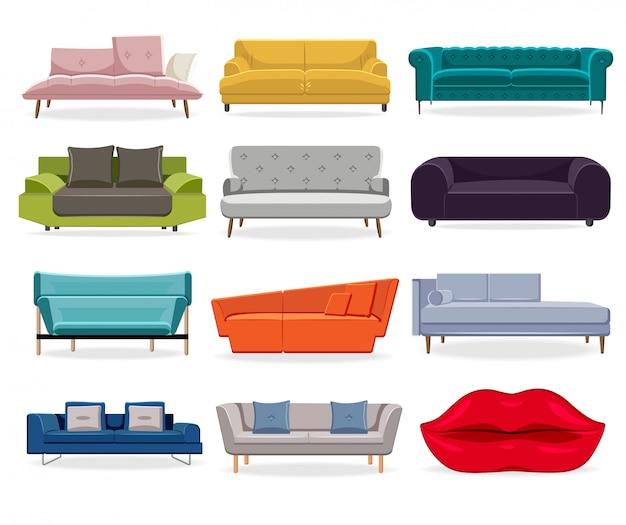 Komfort klassische couch und modernes sofa