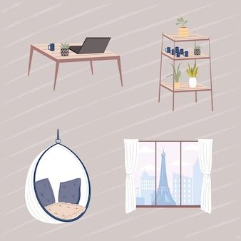 Komfortable und home-icon-sammlung
