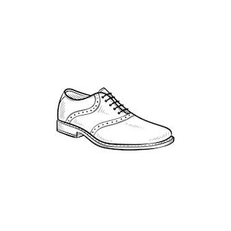 Komfortabler männlicher schuh handgezeichnete umriss-doodle-symbol. herren, stil, mode, schuhe, shop, komfortkonzept