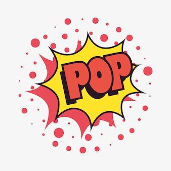 Komische spracheblasen-pop-art des kriegsgefangen punktiert hintergrund