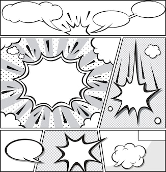 Komische sprechblasen - comicstreifen