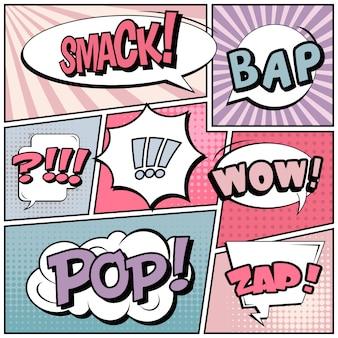 Komischer hintergrund der pop-art-art.