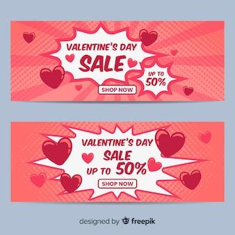 Komischer valentinsgrußverkaufshintergrund