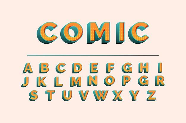 Komisches alphabet 3d