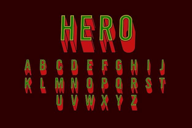 Komisches alphabetisches thema 3d