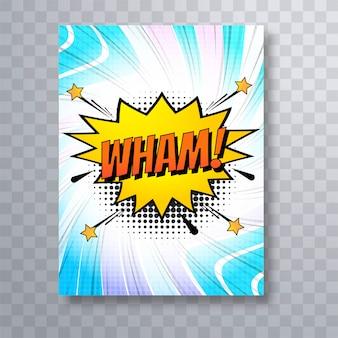Komisches Broschüren-Schablonendesign der Pop-Art bunt