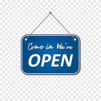 Komm rein, wir sind offenes schild