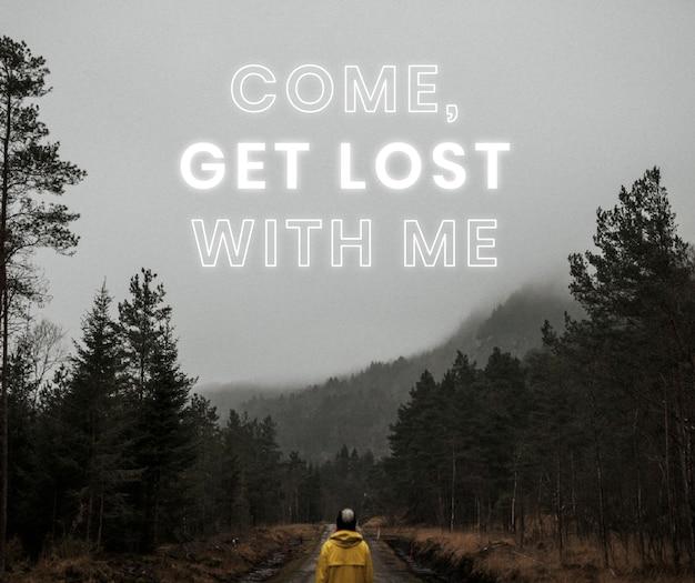 Komm, verlier dich mit mir, reiseblog-website-vorlage