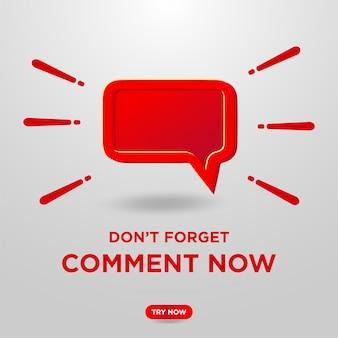 Kommentar-button auf youtube-hintergrund