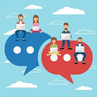 Kommentare in sozialen netzwerken hinterlassen