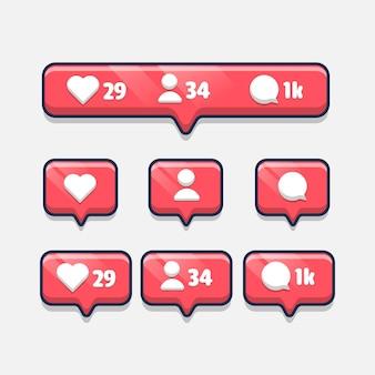 Kommentarschaltflächen für follower-benachrichtigungen festgelegt