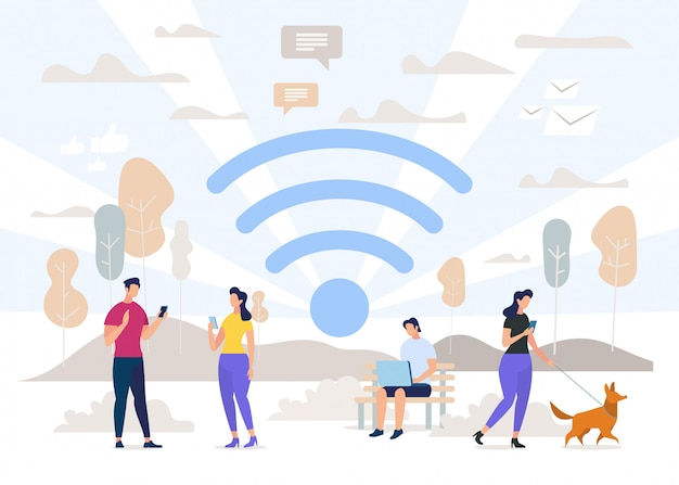 Kommunikation mit wirelesses technologies vector